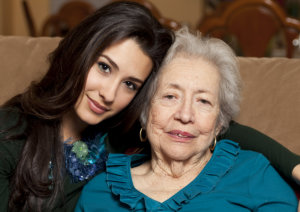 grandmother and her caregiver